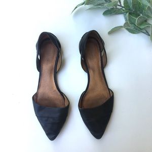 Madewell D'Orsay Black Leather Flats